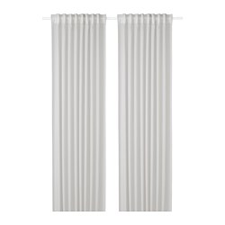GUNRID - Air purifying curtain, 1 pair, light grey