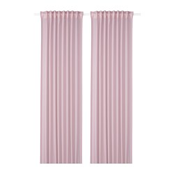 GUNRID - Air purifying curtain, 1 pair, light pink