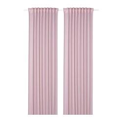GUNRID - Gorden penyegar udara, 1 pasang, merah muda terang