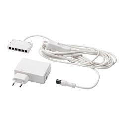 ANSLUTA - LED driver dengan kabel, putih