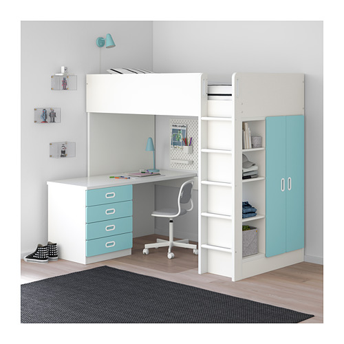 FRITIDS/STUVA loft bed combo w 4 drawers/2 doors