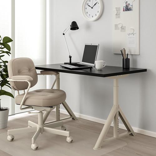 IDÅSEN - meja, hitam/krem, 120x70 cm | IKEA Indonesia - PE709509_S4