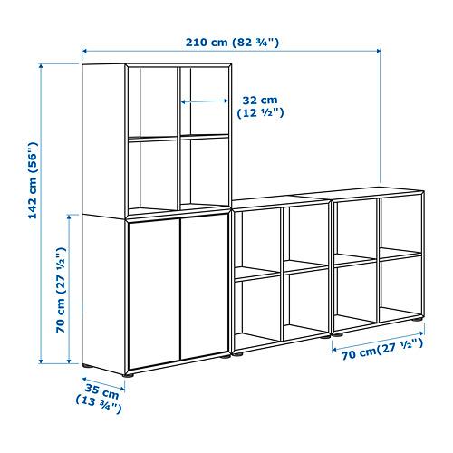 EKET - kombinasi kabinet dengan kaki, putih, 210x35x142 cm   IKEA Indonesia - PE659518_S4