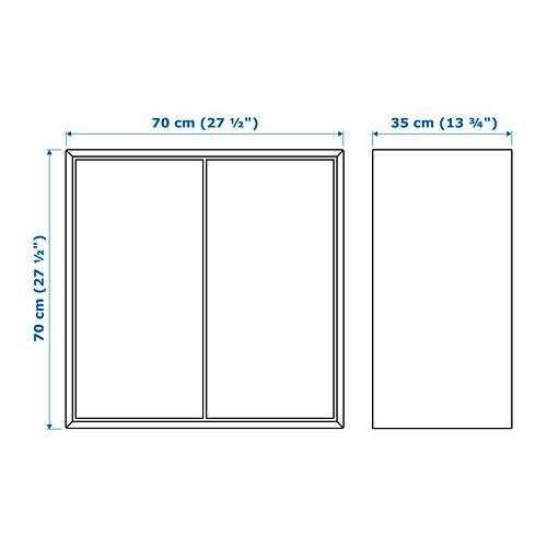 EKET kabinet dengan 2 pintu dan 1 rak