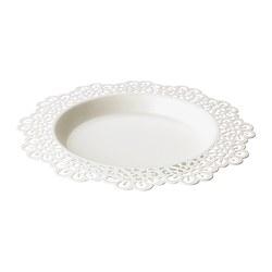 SKURAR - Candle dish, white