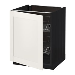 METOD - Base cabinet with wire baskets