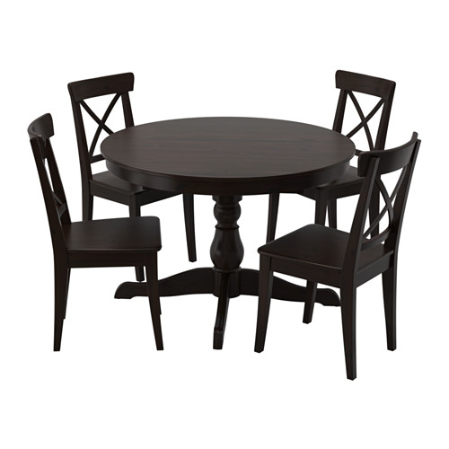INGATORP meja dan 4 kursi