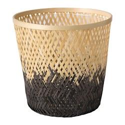 VATTENMELON - Pot tanaman, bambu alami/hitam, 19 cm