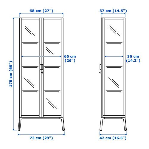 MILSBO - kabinet pintu kaca, putih, 73x175 cm | IKEA Indonesia - PE710391_S4