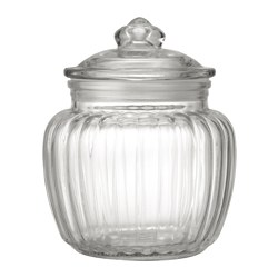 KAPPROCK - Jar with lid, clear glass