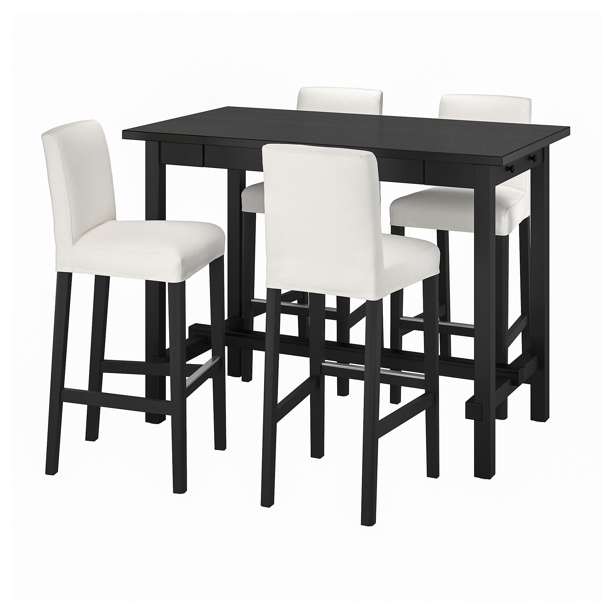 Bergmund Nordviken Meja Bar Dan 4 Bangku Bar Hitam Inseros Putih Hitam Ikea Indonesia