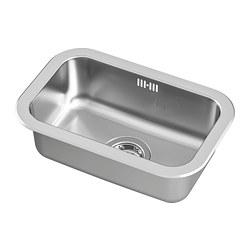 BOHOLMEN - Inset sink, 1 bowl, stainless steel