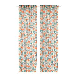MARTORN - Curtains, 1 pair, multicolour