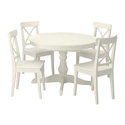 INGATORP/INGOLF - Meja dan 4 kursi, putih/putih