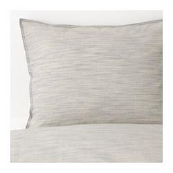 SKOGSALM - Sarung quilt dan 4 sarung bantal, krem
