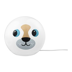 ÄNGARNA - Lampu meja LED, anjing
