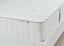 HOKKÅSEN - Pocket sprung mattress, extra firm/white, 160x200 cm