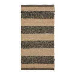 UGILT - Karpet, anyaman datar, abu-abu/krem