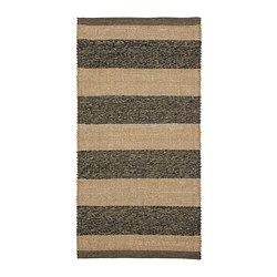 UGILT - Rug, flatwoven, grey/beige