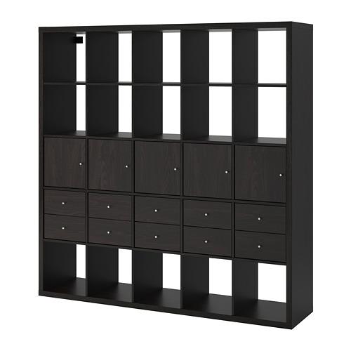 KALLAX unit rak dengan 10 sisipan