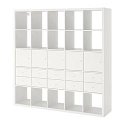 KALLAX - Unit rak dengan 10 sisipan, putih
