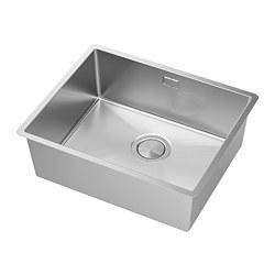 NORRSJÖN - NORRSJÖN, inset sink, 1 bowl, stainless steel, 54x44 cm