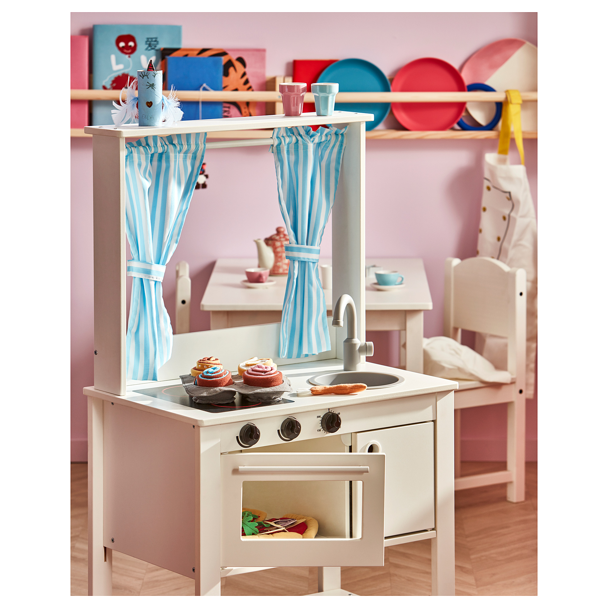 Spisig Play Kitchen With Curtains Ikea Indonesia