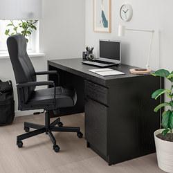 MILLBERGET - Swivel chair, Bomstad black