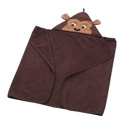 DJUNGELSKOG - Handuk dengan penutup kepala, monyet/cokelat