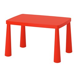 MAMMUT - Children's table, in/outdoor red