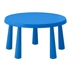 MAMMUT - Children's table, in/outdoor blue