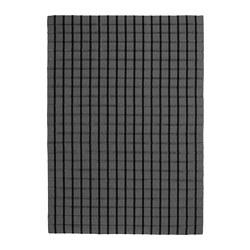 FOULUM - Rug, flatwoven, handmade grey/black, 170x240 cm