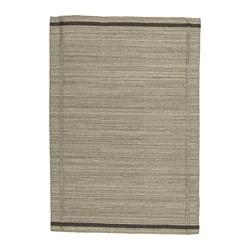 HÖJET - Karpet, anyaman datar, buatan tangan/krem