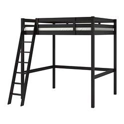 STORÅ - Loft bed frame, black