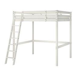 STORÅ - Loft bed frame, white stain