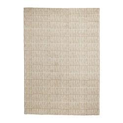 LINDELSE - Karpet tebal, warna alami/krem