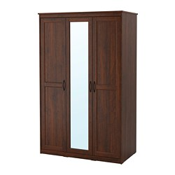 SONGESAND - Wardrobe, brown