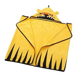 DJUNGELSKOG - Handuk dengan penutup kepala, harimau/kuning