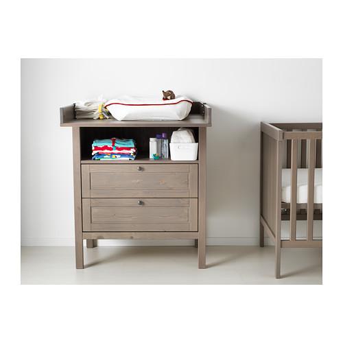 SUNDVIK meja ganti popok bayi/lemari laci