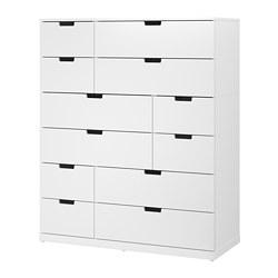 NORDLI - Lemari 12 laci, putih