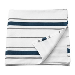 OTTSJÖN - Bath towel, white/blue