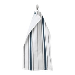 OTTSJÖN - Hand towel, white/blue