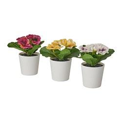 FEJKA - Tanaman tiruan dengan pot, dalam/luar ruang Viola, 6 cm