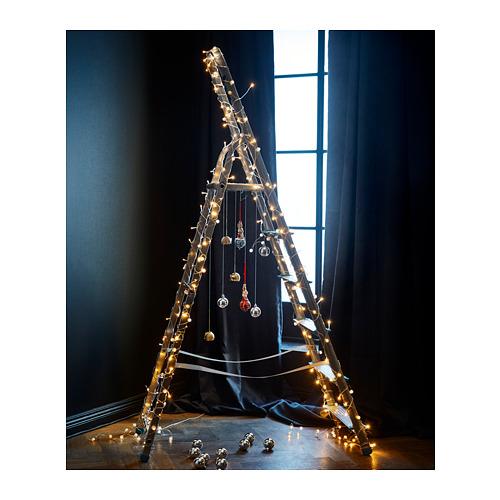 LEDFYR - Rantai lampu LED dengan 24 lampu, dalam ruang warna perak | IKEA Indonesia - PH156514_S4