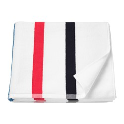 FOSKÅN - Bath towel, white/multicolour
