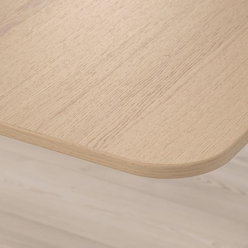 BEKANT - meja sudut kiri duduk/berdiri, veneer kayu oak diwarnai putih/hitam, 160x110 cm | IKEA Indonesia - PE722328_S4