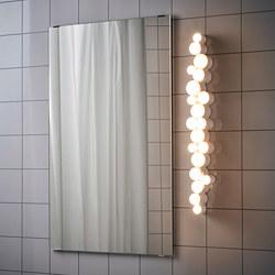 SÖDERSVIK - Lampu dinding LED, dapat diredupkan glossy/putih