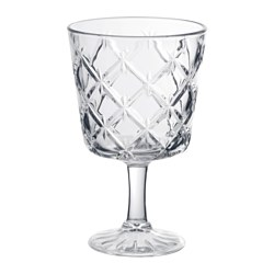 FLIMRA - Goblet, clear glass/patterned