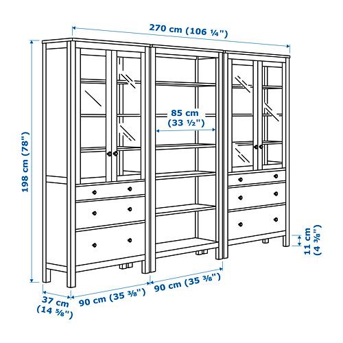 HEMNES kombinasi penyimpanan dg pintu/laci