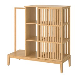 NORDKISA - Open wardrobe with sliding door, bamboo